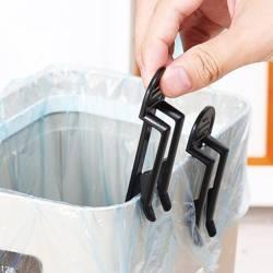 Klips spinka do worków na śmieci  - czarny - Uchwyt na kosz do śmieci - 2szt