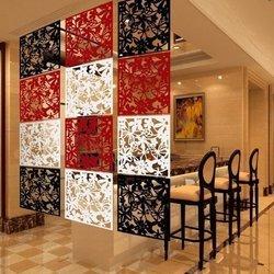 Panel ażurowy na ścianę - czerwony 40x40cm - przegroda ekranowa - dekoracja ścienna