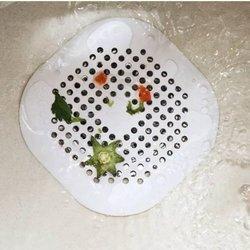 Sitko silikonowe do zlewu - kwadrat szary - Filtr do odpływu w łazience