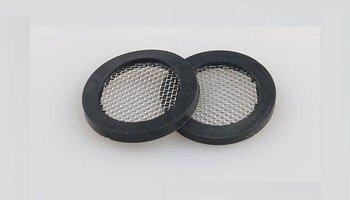 Uszczelka gumowa z filtrem płaskim 24mm - Filtr do węża pralki - prysznica