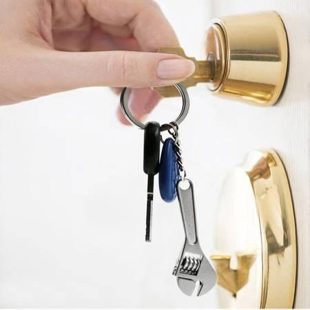Breloczek z mini kluczem szwedzkim - Brelok do kluczy dla mechanika