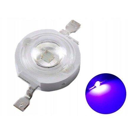 Dioda Power LED UV - 3W - 395nm - światło ultrafioletowe