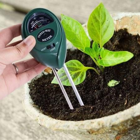Miernik Ogrodniczy 3w1 - Kwasomierz pH Gleby - nasłonecznienie - wilgotność ziemi