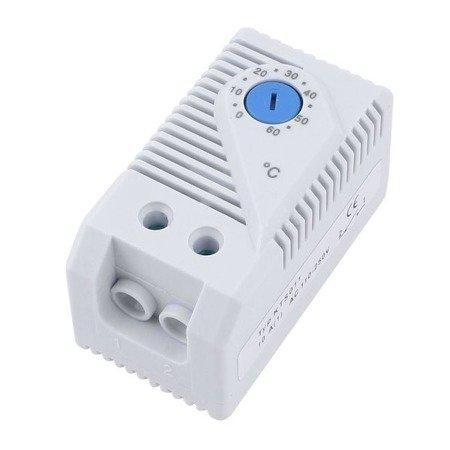 Termostat mini - 0°-60°C - NO - KTS011 - 230VAC - regulator zamykający