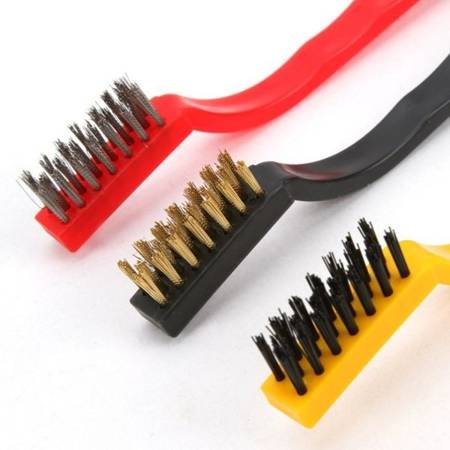 Zestaw 3 szczotek - Szczotki techniczne druciana mosiężna z tworzywa